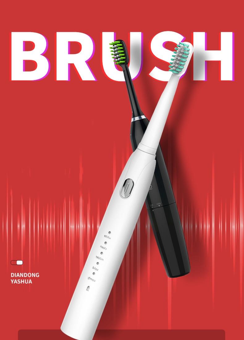 Ultra sonic sonic escova de dentes elétrica