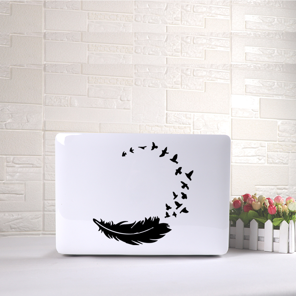 Beautiful Feather laptop sticker Waterproof Stickers For laptop skin vinly decal For Lenovo/Xiaomi/Hp/Asus Notebook Stickers