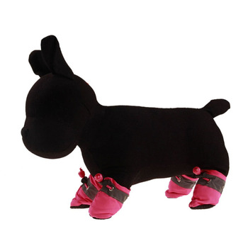 4pcs Antiskid Puppy Shoes Soft-soled Pet Dog Shoes Waterproof Small Dog Prewalkers Soft Pet Products Supplies Pet Paw Care New 3