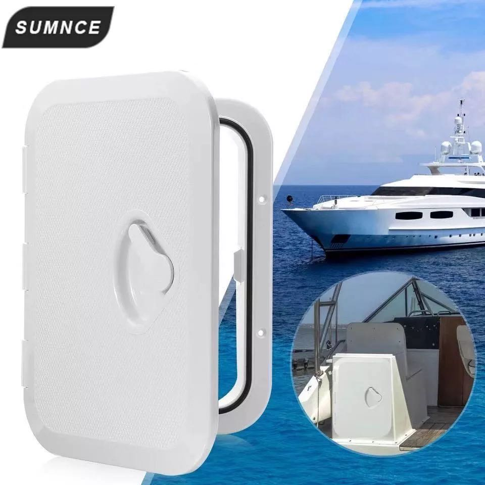 270*375mm ABS Deck Marine <font><b>Hatch</b></font> Door Deck Access <font><b>Hatch</b></font> <font><b>Boat</b></font> <font><b>Hatches</b></font> Inspection Yacht Cover RV White image