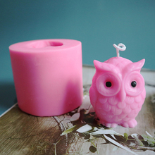 Resin Mold 3d Silicone Plaster-Wax Craft-Making Handmade Owl-Shape DIY for Candle 1-Pc