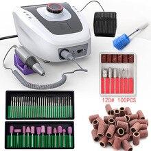 32W 35000RPM maszyna do Manicure elektryczna wiertła do paznokci aparatura do Manicure Pedicure z pilnikiem wiertła do paznokci narzędzie