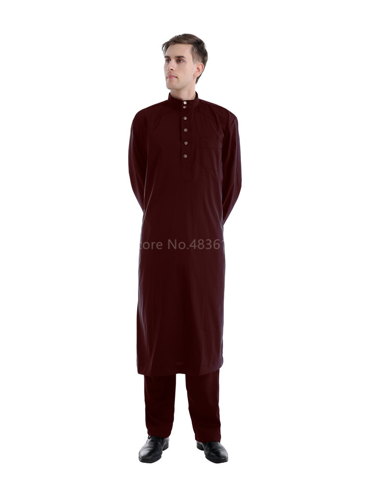 H8e29c2126318470685017a8a0a3d915cj - Islamic Clothing Men Muslim Robe Arab Thobe Ramadan Costumes Solid Arabic Pakistan Saudi Arabia Abaya Male Full Sleeve National