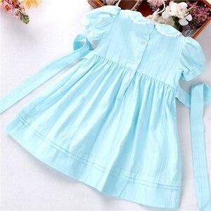 Image 5 - ฤดูร้อนเด็กทารกชุด smocked ผ้าฝ้ายทำด้วยมือ VINTAGE เสื้อผ้าเด็ก Princess PARTY บูติกเสื้อผ้าเด็ก