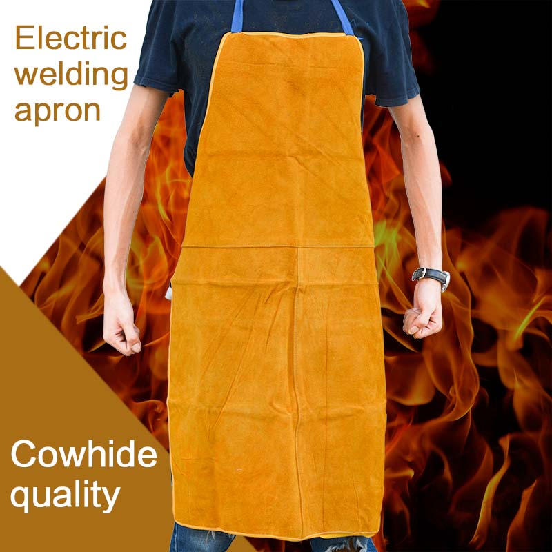 Cow Leather Aprons Welding Heat Insulation Protection Welders Blacksmith 93x64cm High Temperature Apron Anti-scalding Apron