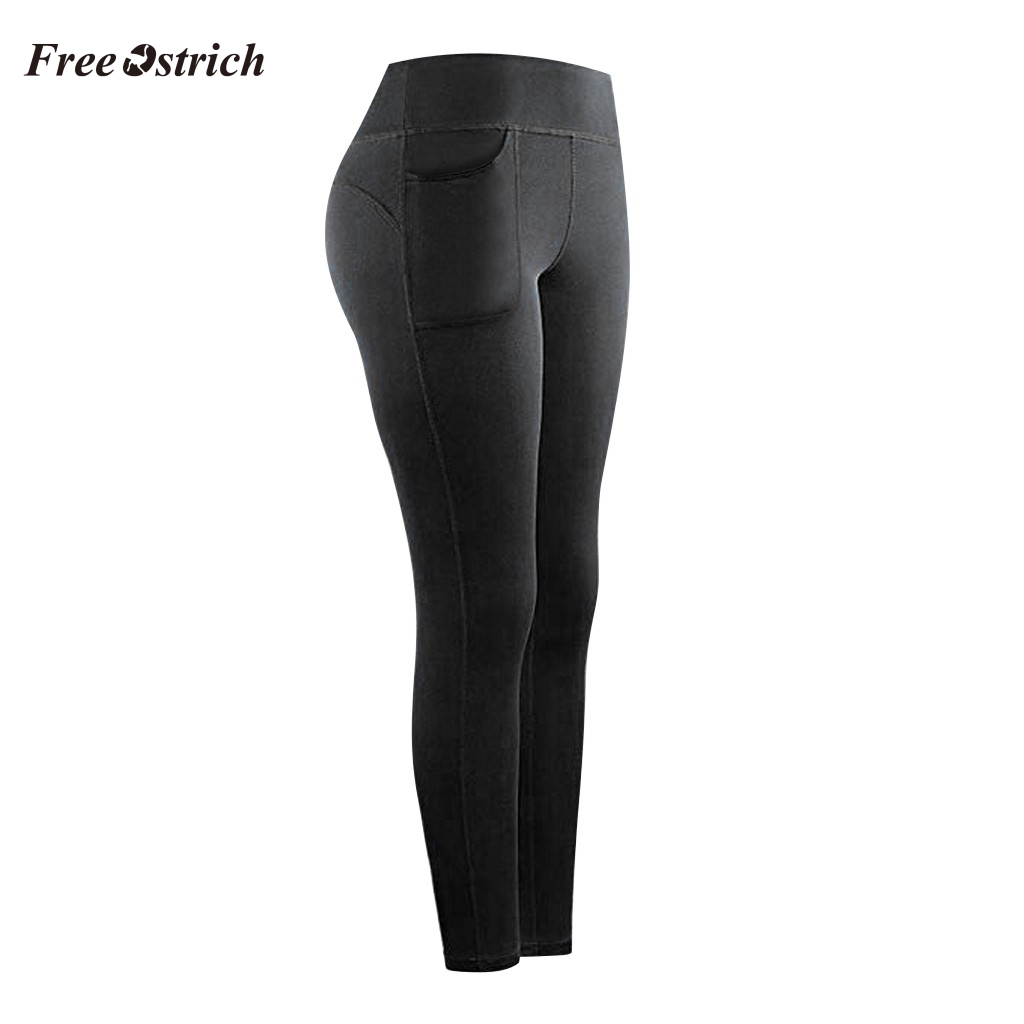 Leggings Sport Women Fitness High Waist Stretch Athletic Gym Casual Leggings Running Sports Pockets Active Pants With Pocket