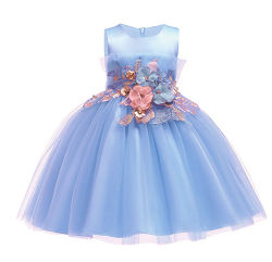 H8e2a2809476e45268f61fb8978a7617eq Lace Sequins Formal Evening Wedding Gown Tutu Princess Dress Flower Girls Children Clothing Kids Party For Girl Clothes