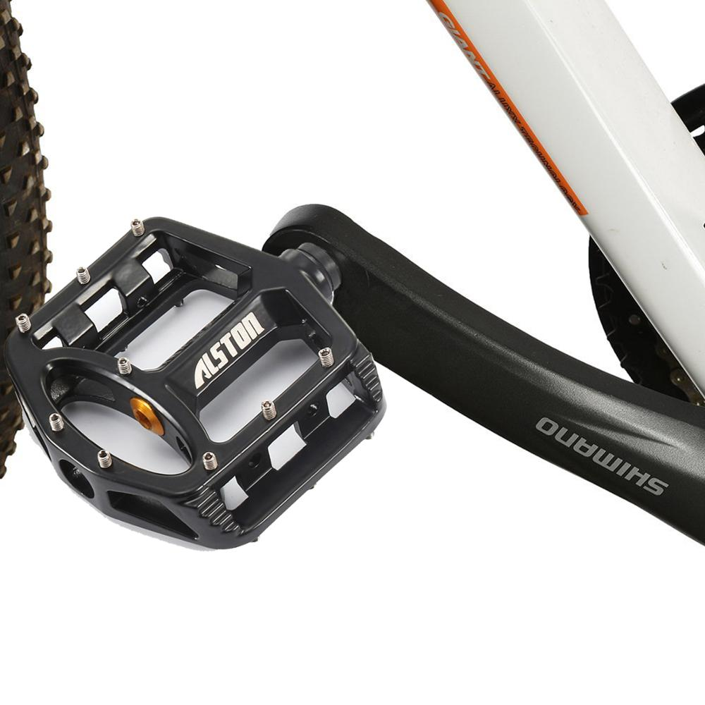 Ansjs 1 Pair Mountain Bike Pedal MTB BMX Cr Mo CNC Machined 9 16 quot Screw Thread Spindle Injection Magnesium Alloy Pedals Black in Bicycle Pedal from Sports amp Entertainment