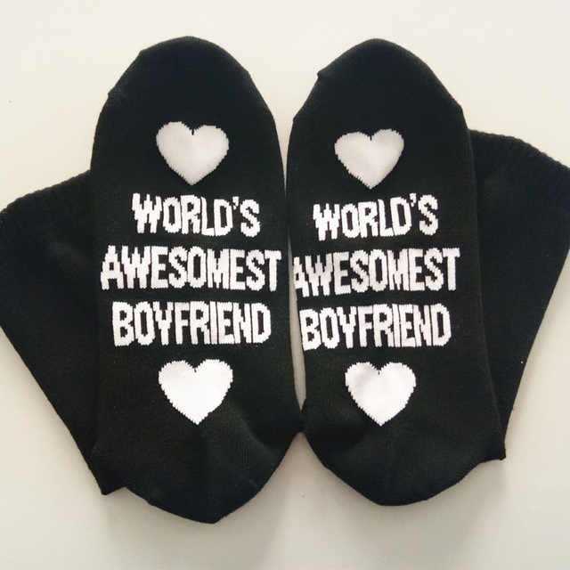 Birthday Gift for Boyfriend Cotton Socks Ankle Small Love Gift Anniversary Girlfriend Present Party Favor Valentines Day Gift