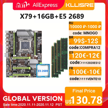 Kllisre X79 เมนบอร์ดชุดXeon E5 2689 4X4GB = 16GB 1333MHz DDR3 ECC REGหน่วยความจำ