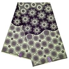 Стильный высококачественный воск ткань Анкара Африканский Цветочный Принт текстиль для леди