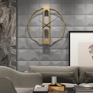 Image 5 - 북유럽 금속 벽시계 레트로 철 라운드 얼굴 대형 야외 정원 시계 홈 인테리어 벽시계 현대 디자인 reloj pared