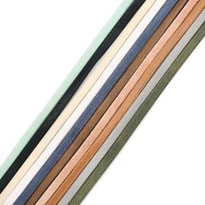 Плоский шнур и веревка из искусственной кожи 5 ярдов 5*3 мм, фурнитура «сделай сам» для ювелирных изделий, аксессуары, материалы для изготовле...