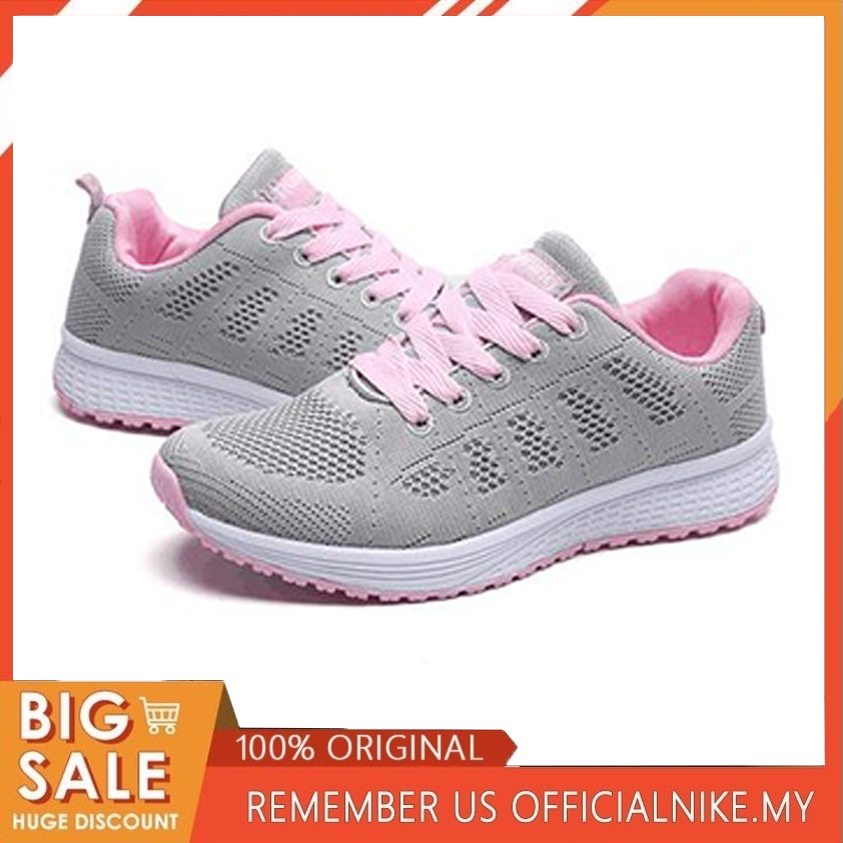 SAGACE Casual Sneakers Shoes Female Autumn Mesh Spring Lace-Up Soft title=