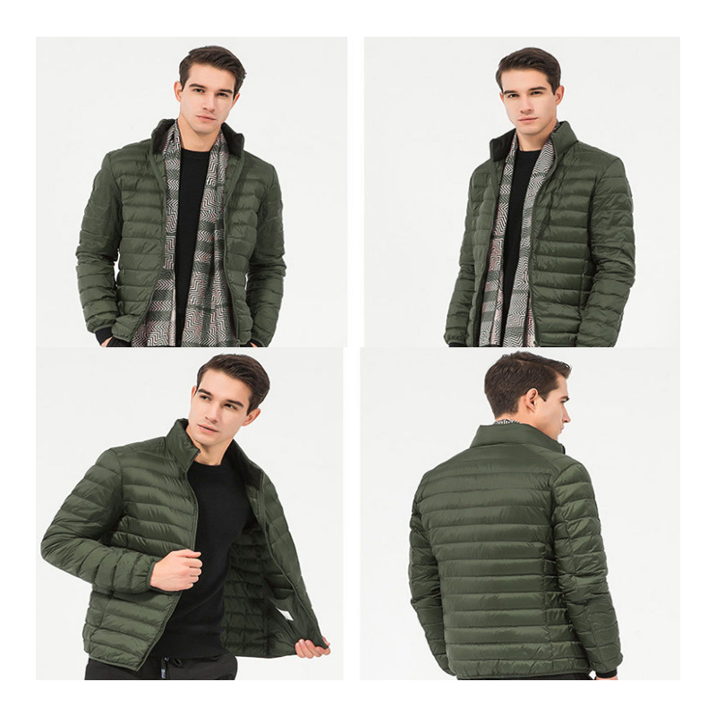 MAZEROUT Winter Men Ultralight Thin Down Black Duck Down Hooded Jackets Long Sleeve Warm Coat Parka Male Portable M-4XL Cold