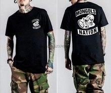 T-shirt col rond pour homme, haut en coton, décontracté, avec patchs Mc imprimés graphiques, noir, taille S-4XL