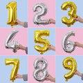 Радужные воздушные шарики с днем рождения украшения цифровой воздушные шары для свадьбы воздушный шарик из фольги в форме Рождественский п...