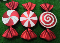 Christmas decorations scene layout gift ornaments pendant ornaments DIY large candy 55CM plating red sugar