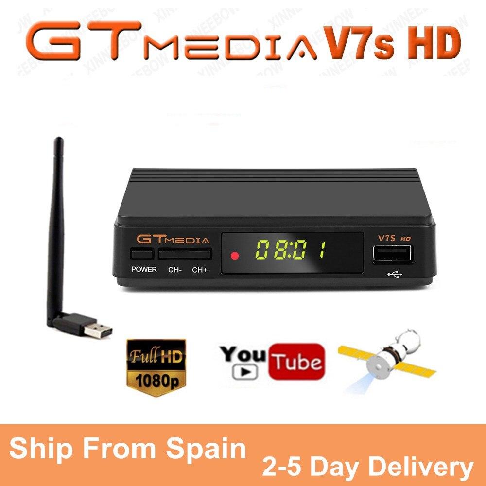 Gtmedia V7S HD 1080P цифровой рецептор DVB S2 спутниковый ресивер ТВ тюнер HD Box Cline декодер Biss VU PVR WiFi Freesat v7|Спутниковое ТВ|   | АлиЭкспресс