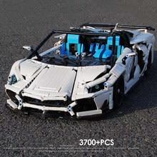 MOC 3700pcs High-Tech Supper Sports Racing Car Aventador Technology Creator Model Building Blocks Bricks Toys For kids toys
