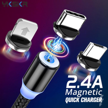 Magnetic USB Cable Fast Charging USB Type C Cable Magnet Charger Data Charge Micro USB Cable Mobile Phone Cable For iphone 11 Xs magnetic usb cable micro usb usb c fast charging mobile phone magnet charger cable for iphone 11 xr huawei p30 microusb u type c