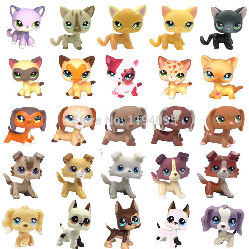 Pet Shop Lps Toys Rare  Standing Short Hair Cat #5 #391 Little Dog Dachshund Crocker Spaniel Collie Great Dane Old Collection