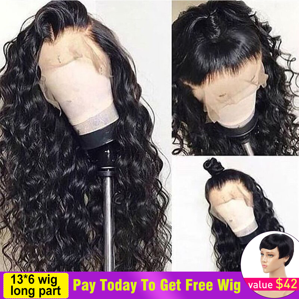 13x6 Lace Front Human Hair Wigs With Baby Hair Pre Plucked Loose Wave Human Hair Wig For Black Women Brazilian Remy Natural Hair