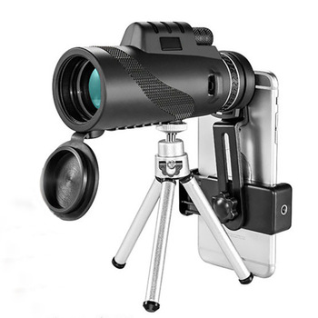 Zoom Monocular Binoculars Mobile Support Telescope with Vision Outdoor Watching Travelling Hunting Camping Optical Prism Scope zoom telescope 40x22 folding binoculars with low light night vision for outdoor bird watching travelling hunting camping 2000m a