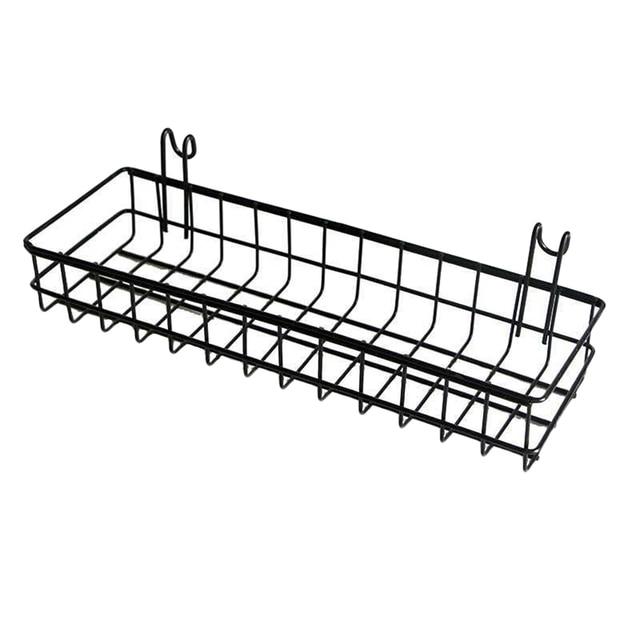 1PC Storage Basket Wall Mount Hanging Organizer,Wire Metal Storage Shelf Rack