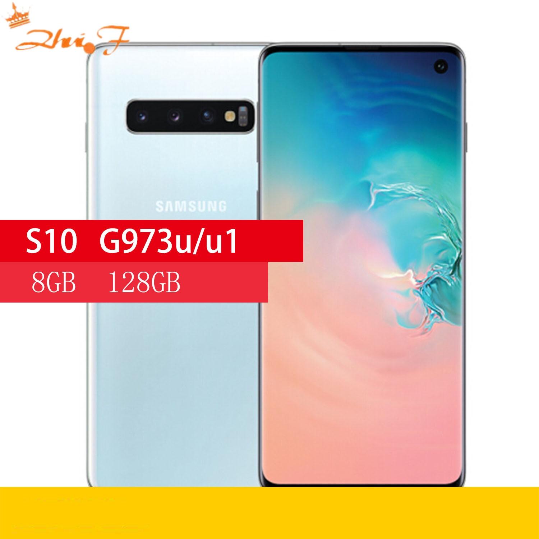 Samsung S10 G973U G973U1 оригинальный мобильный телефон Octa Core 6,1