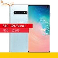 Samsung-teléfono inteligente S10 G973U G973U1, Original, ocho núcleos, 6,1 pulgadas, 16MP y 12MP, 8GB de RAM, 128GB de ROM, NFC