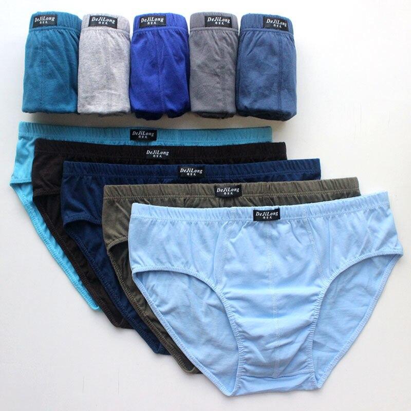 5/pcs Cotton Teen Briefs Men's Underwear Boys' Waist Shorts Youth Sweat-absorbent Breathable Bottoms