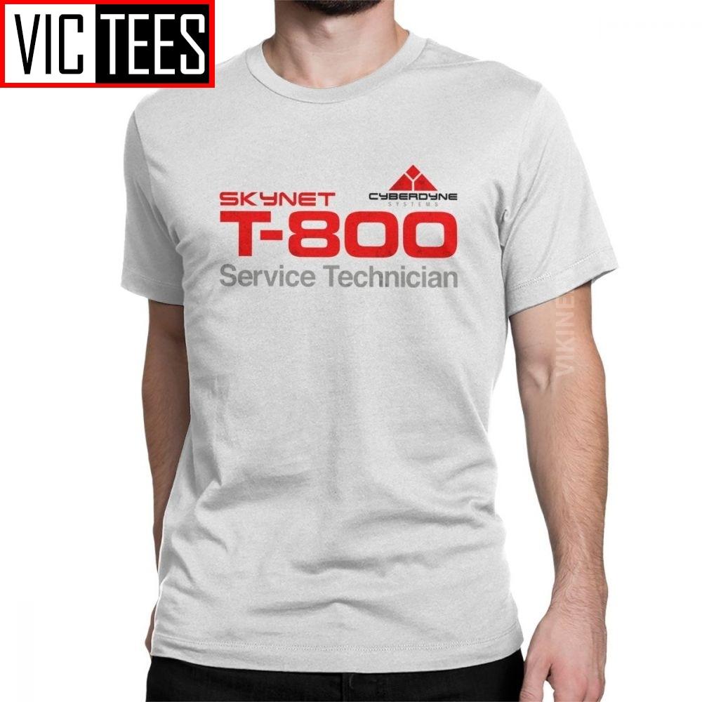 T-800 Technician T Shirt Men Cotton Novelty Tshirt Crewneck Terminator Cyberdyne Cyborg Camisas Hombre Wholesale