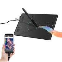 Huion h950p bateria livre gráficos desenho tablet tilt suporte caneta digital tablet com 8192 níveis de pressão com adaptador otg presente|Tablets digitais| |  -