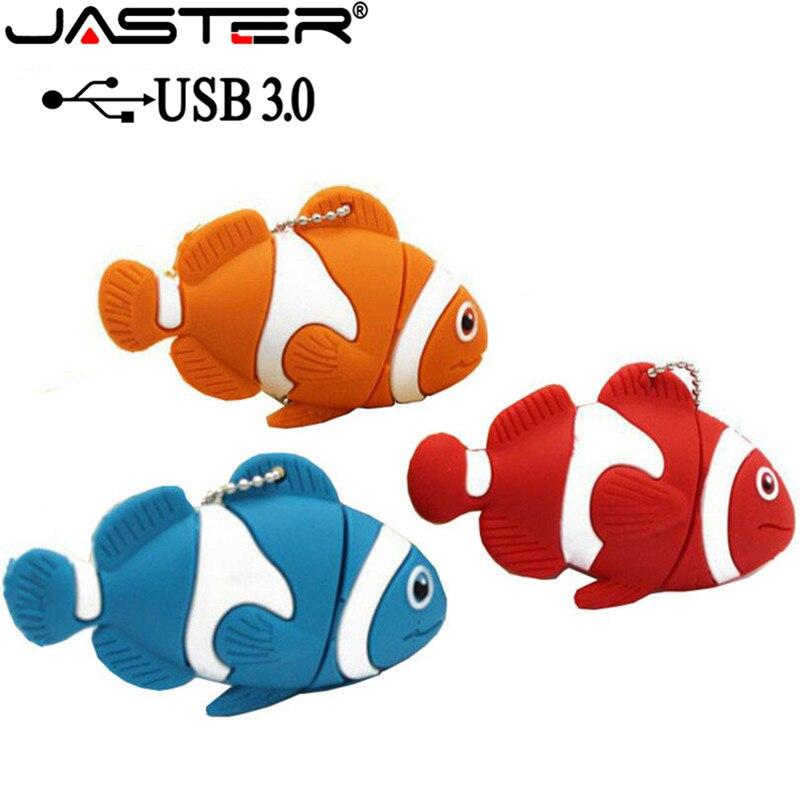 JASTER USB 3.0 Cute Cartoon Animal Fish Usb Flash Drive Memory Stick Pen Drive Pendrive 4GB 8GB 16GB 32GB 64GB U Disk