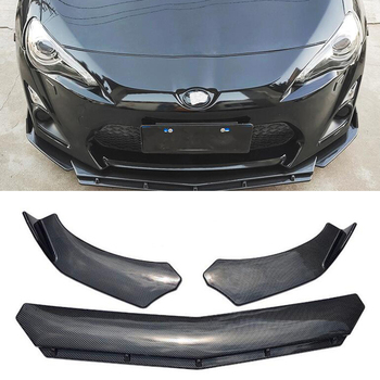 CEYUSOT FOR 3PCS CAR Front Bumper Spoiler Toyota 86 GT86 Anti-Collision Decorative Accessories Body Kit Refit Body Kit 2012-2020 image