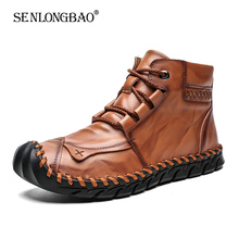New Winter Men Warm Casual Ankle Boots Fashion Snow Boots Comfortable Men Walkin