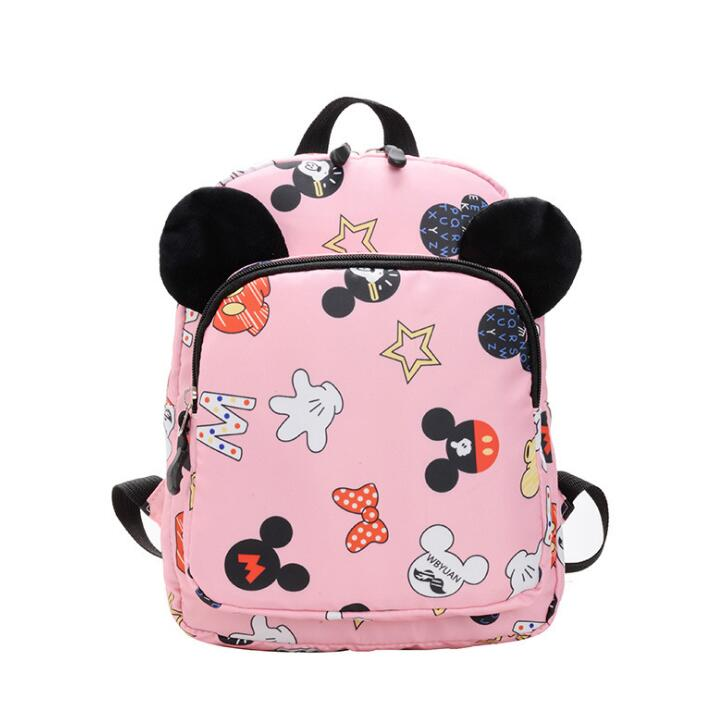 Children Bag Cute Cartoon Mickey Minnie Kids Bags Kindergarten Preschool Backpack For Boys Girls Baby School Bags 3-6 Years Old
