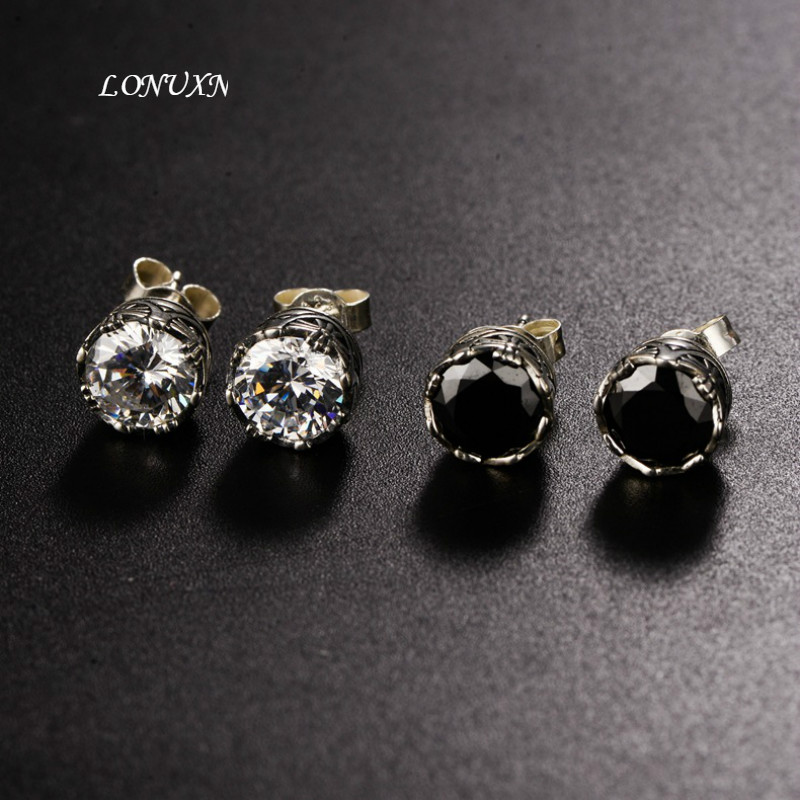 high quality Korean fashion Wild Black Onyx 925 silver earring For women the best birthday present Party accessories jewelry