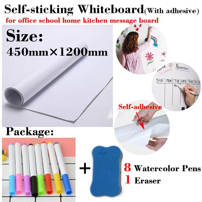 Self-sticking Whiteboard Soft Message Board Dry Erase White Board School Board Memo Boards Dry Eraser White Board Wall Sticker