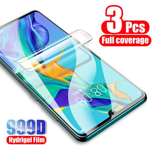 Image 1 - 3Pcs Hydrogel Protective Film For Huawei P30 P40 P20 lite Mate 10 20 Pro Screen Protector For Huawei P30 P20 P40 Pro lite Film