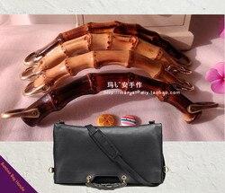 Bamboo Bag Hanger Handle Diy Handbag Accessories Wooden Bamboo Purse Frame Handle Elegance Bamboo Purse Handle