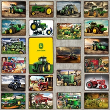 【YZFQ 】Tractor Sign Vintage Signs Metal Plate Tin Sign Wall Stickers Garage Home Art Country Farmhouse Decor DU-6965B