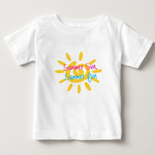 Sunshine Pattern T Shirt Camisoles Kids Cotton Short Sleeve T Shirt Summer O-round Collar T-shirt Girl/boy Tops 2020 Tee Shirts fashionable sochi faulty olympic rings pattern cotton t shirt black xl