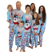 Рождественский пижамный комплект для всей семьи одежда мамы