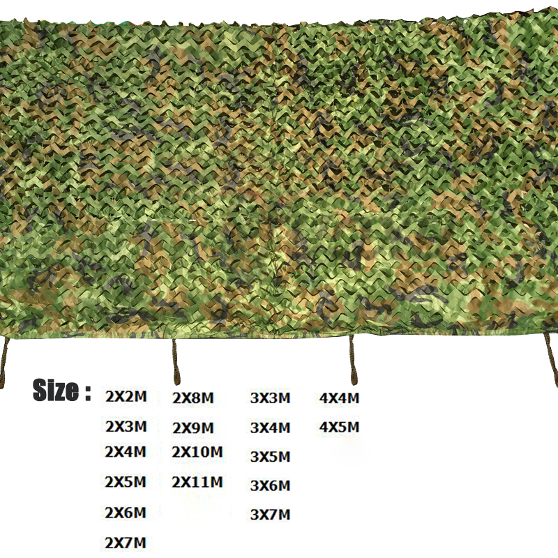 Jungle Camouflage Nets Military Tactical Gear CS War Game Hunting Fishing Camping Tent Sun Shelter Camo Neting Outdoor Car Cover