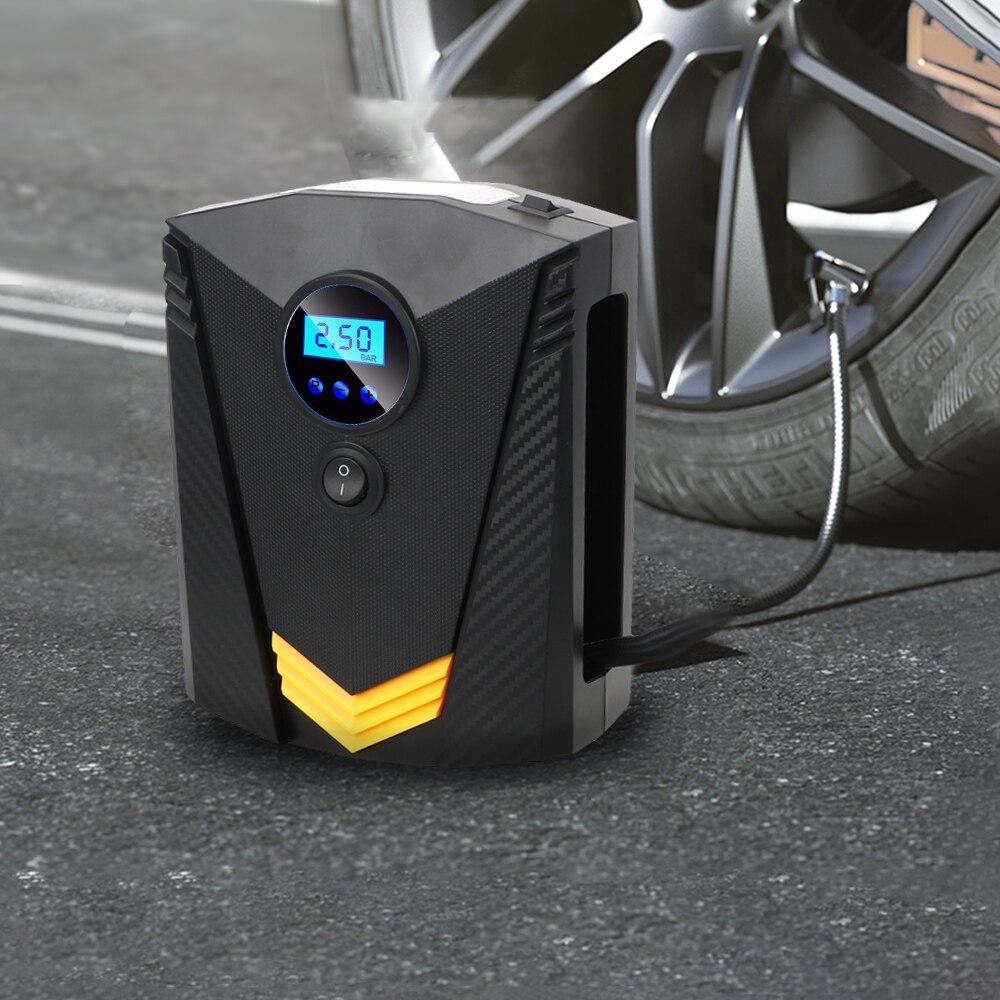 For Car Motorcycle Portable Digital Tire Inflator DC 12V LED Light ...