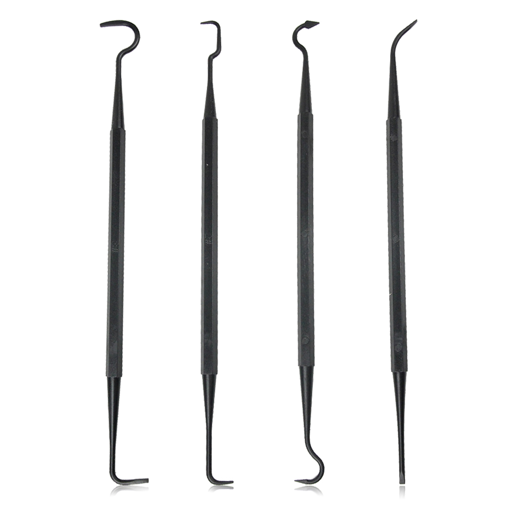 4pcs Double Ended Nylon Pick Set Gun Cleaning Hooks Universal Tactical Rifle Pistol Gun Tool Professional Cleaning Set Hunting
