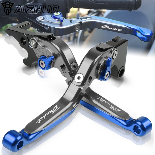 Para suzuki gsf 650 1200 1250 bandit motocicleta embreagem alavanca do freio de alumínio extensível ajustável dobrável alavancas