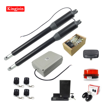 KINGJOIN high quality automatic door opener motor linear actuator with remote control and electric lock double door opener high quality faa24350bl1 bl2 elevator door motor